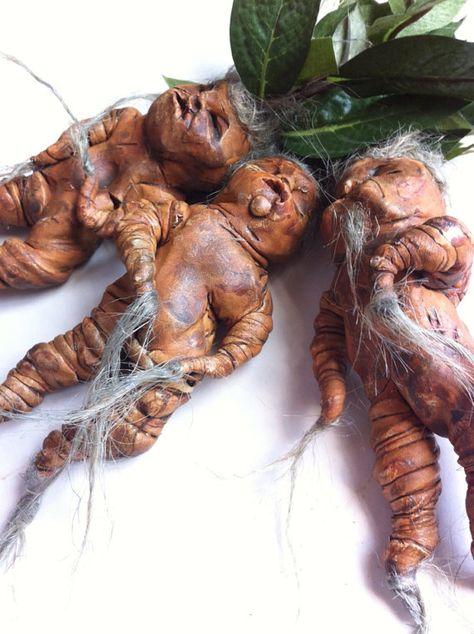 Mandrake Doll Mandragora Figurine Harry Potter by oldcityartmaker