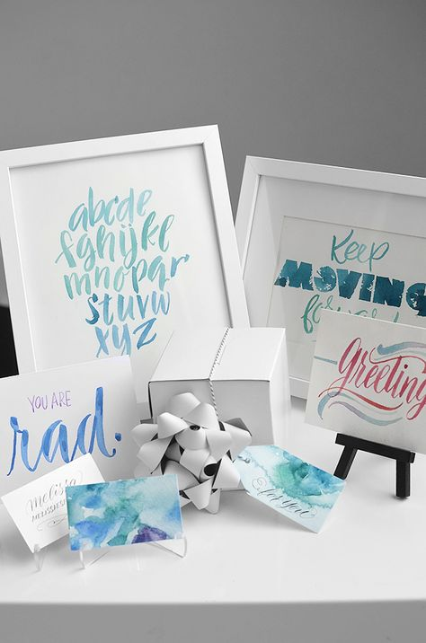 Watercolor lettering tutorial