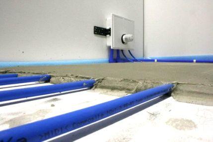 Dunnbett Fussbodenheizung Nachtraglich Verlegen Flexiro Set Fussbodenheizung Fussboden Heizung