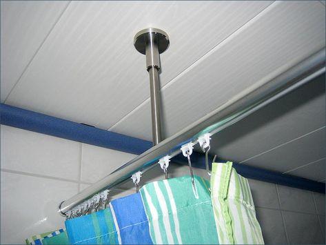 Rundumlaufender Weg Des Duschvorhangs Garantiert Vorhange Duschvorhang Duschvorhangstange