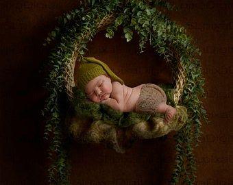 Orange RTS 0 to 3 Months Baby Hat with Flower Brown Cream
