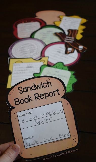 FREE Sandwich Book Report - this is such a fun, clever, and unique free printable book report idea! Print in color or black and white, perfect for kindergarte Comprehension Activities, Reading Activities, Teaching Reading, 2nd Grade Reading Comprehension, Learning, Reading Strategies, 2nd Grade Activities, Guided Reading, Free Reading