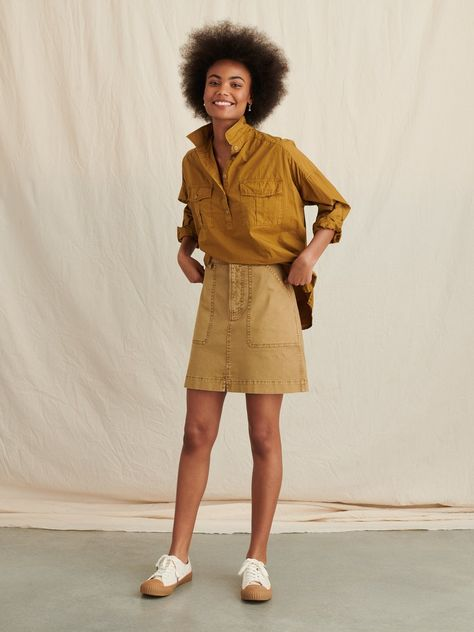 Keeper Popover in Garment-Dyed Paper Cotton