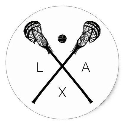 Lacrosse Sticks And Ball Classic Round Sticker Zazzle Com Lacrosse Sticks Lacrosse Lacrosse Girls