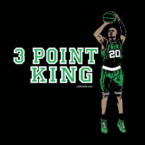 Three Point King! RAY ALLEN # 1 in the record books for the history
