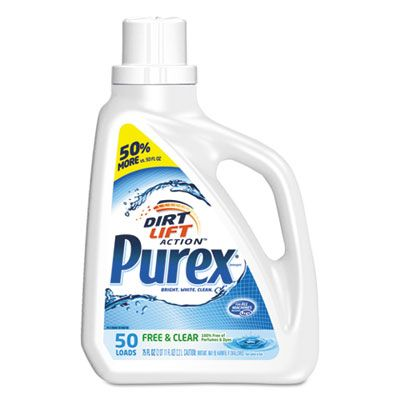 Purex Free And Clear Liquid Laundry Detergent Unscented 75 Oz Bottle 6 Carton 2420006040ct Laundry Liquid Liquid Laundry Detergent Laundry Detergent