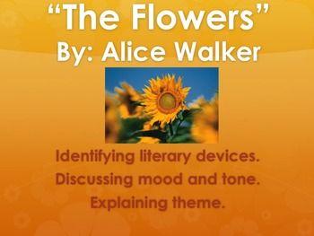 The Flowers Alice Walker Literary Device Worksheet In 2021 Literary Devices Literary Alice Walker