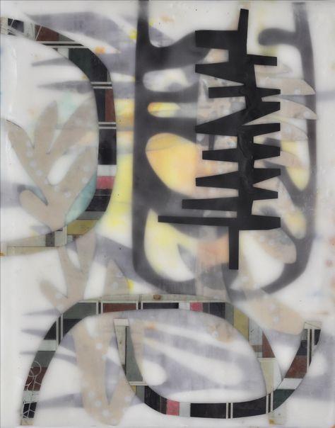 "Chin Yuen | Pulse | encaustic collage, 10""x8"" /sm"