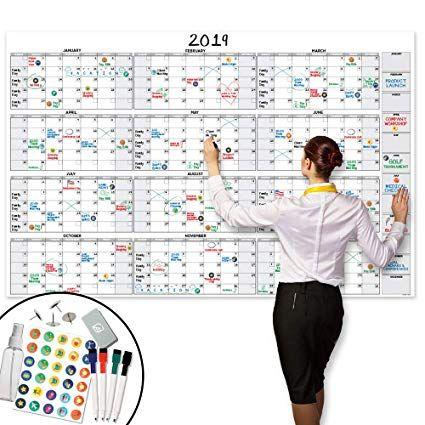 Amazon Com Large Dry Erase Wall Calendar 58 X 38 Undated Blank 2019 2020 Reusable Yearly Calendar Dry Erase Wall Calendar Dry Erase Wall Wall Calendar