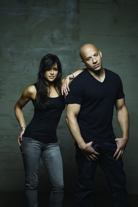Beautiful Michelle Rodriguez and handsome Vin Diesel ~ Letty Ortiz & Dom Toretto