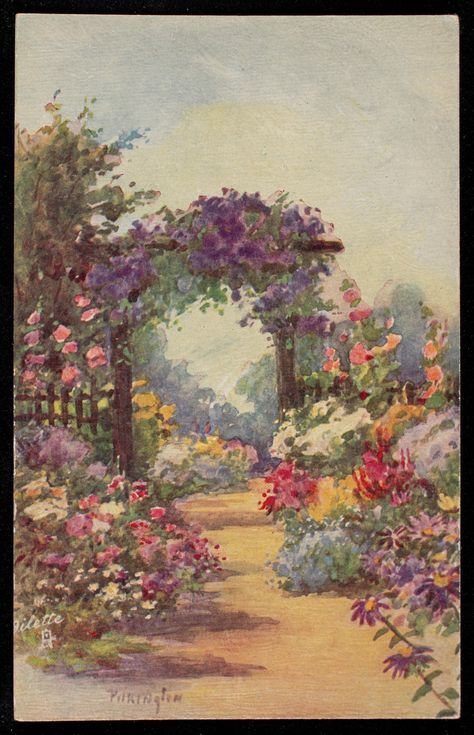 Path through garden arch : Pilkington, Flora : Free Download, Borrow, and Streaming : Internet Archive