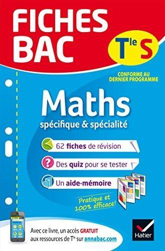 Telecharger Fiches Bac Maths Tle S Specifique Specialite Fiches De Revision Terminale S Grat Bac Svt Bac Maths Terminale S