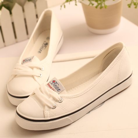 88aa27ffc80 2014 New casual shoes flats for women Summer new arrival shallow mouth flat shoes  fashion casual female shoes canvas sneakers-inFlats from S..