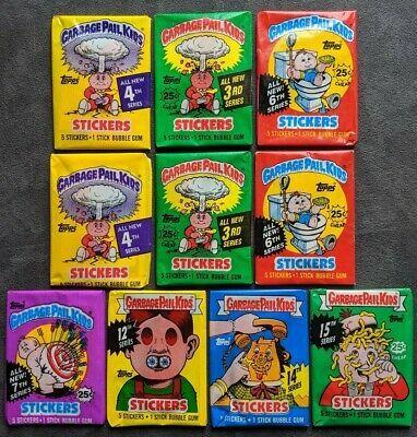 Ebay Sponsored Garbage Pail Kids Wax Pack Lot Original Series Sealed Vintage1986 1988 Topps Gpk In 2020 Garbage Pail Kids Garbage Pail Kids Cards Pail
