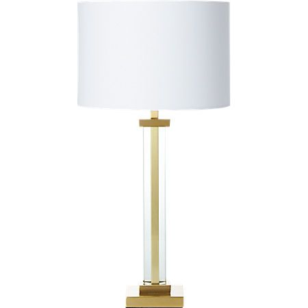 Panes Glass And Brass Table Lamp Reviews Brass Table Lamps