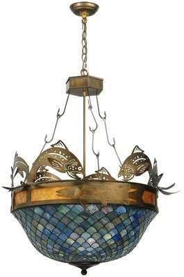 Tiffany Co Meyda 4 Light Bowl Pendant Meyda Meyda Bowl Pendant Stained Glass Light