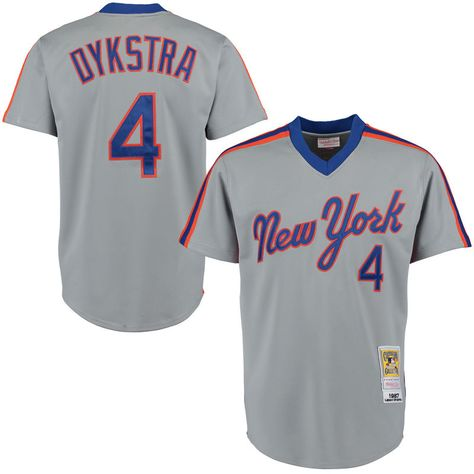 Lenny Dykstra 1987 New York Mets Mitchell & Ness Authentic Throwback Jersey - Gray