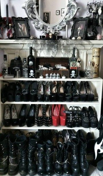 Shoes as decor what a great. idea I need more shoes I guess