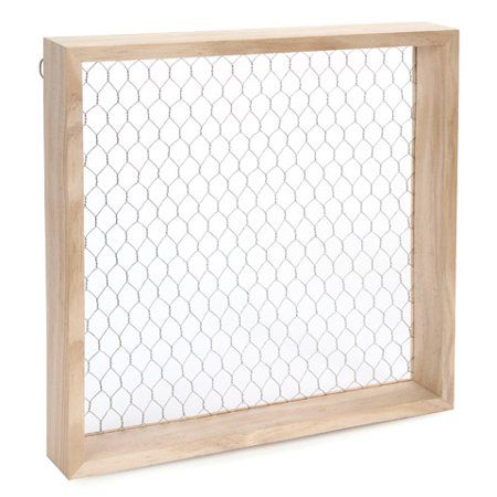 Chicken Wire Shadowbox Unfinished Wood 12 X 12 X 1 125 Inches Walmart Com Chicken Wire Frame Succulent Frame Chicken Wire