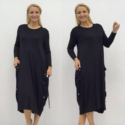 Elb1018 Siyah Cep Ipli Uzun Kol Penye Elbise Siyah Elb1018siyah Elbise Siyah Koltuklar