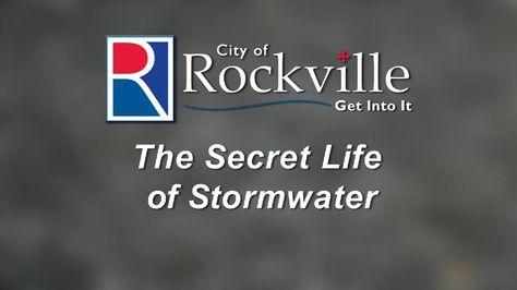 """The City of Rockville is committed to encouraging its citizens to Reduce, Reuse, and Recycle. As part of its stormwater management initiative, the city produced a four-part video series showing its citizens how to reduce their stormwater runoff and how to choose, install, and maintain a rain barrel. """"The Secret Life of Stormwater"""" is the first in the series and discusses stormwater basics and ways residents can help improve water quality."""