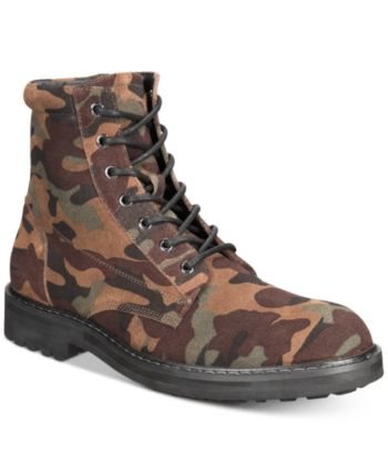 I.n.c. Men's Wilder Camo Boots, Created for Macy's Green