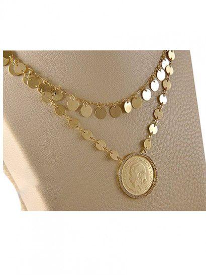كوليه ذهب عيار 18 طول السلسلة 50 سم خصم 10 علي المصنعية Jewelry Jewelrymaking Love Women Gold Goldjewellery Coin Jewelry Jewelry Gold Necklace
