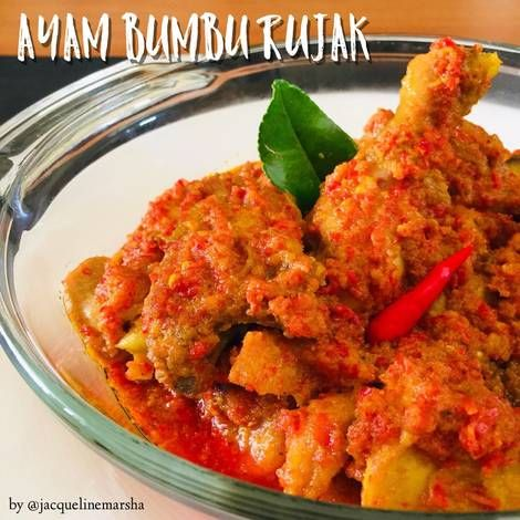 Resep Ayam Bumbu Rujak Oleh Jacqueline Marsha Meliska Resep Resep Ayam Masakan Masakan Indonesia