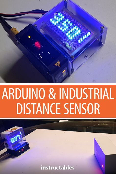 Rs485 Arduino And Industrial Distance Sensor Arduino Arduino Sensors Arduino Projects Diy