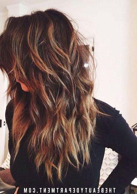 20 Long Chopped Layered Hairstyles Long Choppy Hair Long Hair Styles Haircuts For Long Hair With Layers