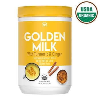 Sports Research Usda Organic Golden Milk With Turmeric And Ginger Powder 10 6 Ounces In 2020 Turmeric Milk Golden Milk Usda Organic