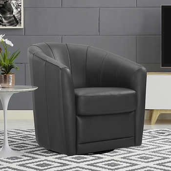 Strange Natuzzi Cora Top Grain Leather Swivel Chair Leather Swivel Squirreltailoven Fun Painted Chair Ideas Images Squirreltailovenorg