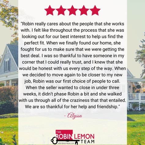 Don't take our word for it. Here's what our clients think!⁠ #Testimonials #TestimonialTuesday #ClientFeedback #Roswell #JohnsCreek #Canton #CantonHomes #RealEstateAdvice #FreeAdvice #NoPressureSales #RealEstate #AtlantaRealEstate #RoswellGa #AlpharettaHomes #Woodstock #WoodstockGa #WoodstockHomes #Luxury #LuxuryHomes #LuxuryRealEstate #KellerWilliams #RealEstateAgent #HouseHunting #FirstTimeHomeBuyer #RobinLemonTeam