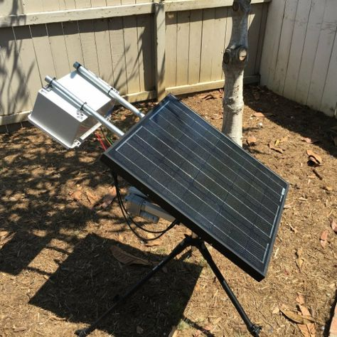 Great My Home Built Solar Panel Tracker Set Up And Working. | Permaculture Living  Sustainably | Pinterest