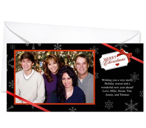 Photo Cards : Gift Tag Christmas Holiday Photo Card Template