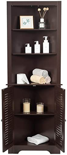 New Tangkula Bathroom Corner Storage Cabinet Free Standing Tall Collection Cabi In 2020 Corner Storage Cabinet Bathroom Corner Storage Cabinet Bathroom Corner Storage