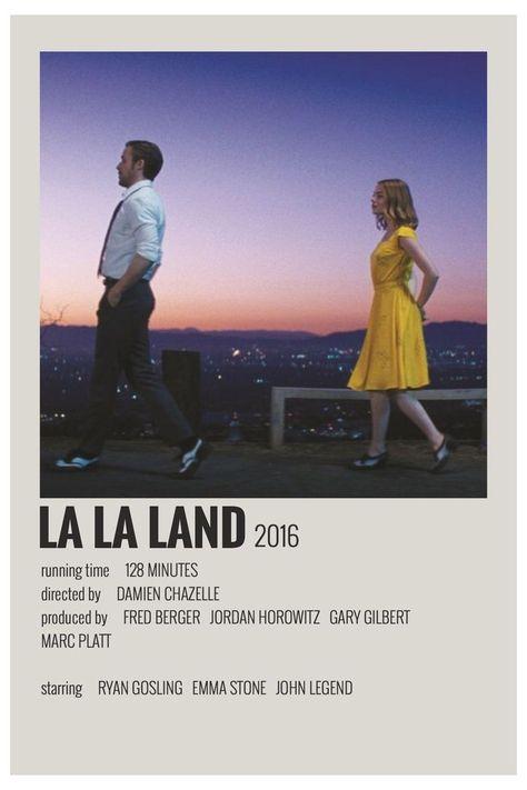lala land minimalist poster