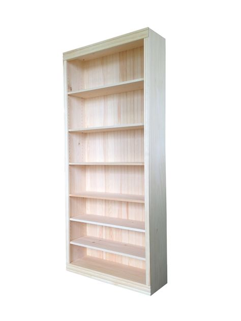 36 W X 82 H X 12 D Real Wood Bookcase Bookcase Real Wood Pine Bookcase