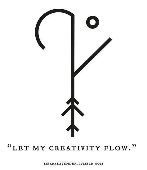 "Sigil Athenaeum — mearalavender: ""Let my creativity flow. Sigil Athenaeum — mearalavender: ""Let my creativity flow. Rune Symbols, Magic Symbols, Symbols And Meanings, Viking Symbols, Ancient Symbols, Egyptian Symbols, Spiritual Symbols, Tattoo Symbols, Symbols Of Love"