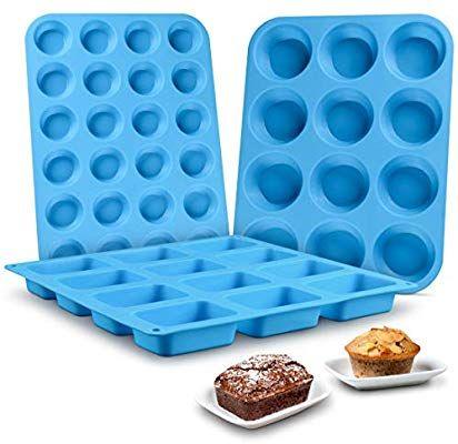 Amazon Com Muffin Pan Silicone Brownie Molds Cupcake Pan Baking