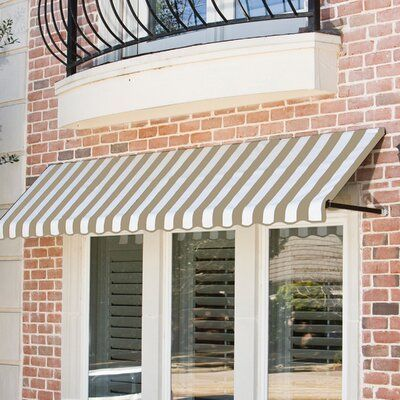 Awntech Dallas Retro Woven Acrylic Standard Window Awning Wayfair Ca In 2020 Window Awnings Custom Awnings Canvas Awnings