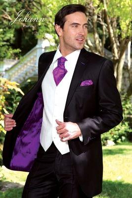 Johann Costume Mariage Ceremonie Noir Et Mauve Wedding Tuxedo