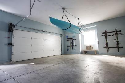 Opening Up Possibilities With The New Wall Mount Garage Door Opener Hgtv Garage Door Styles Home Improvement Garage Doors