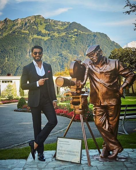 The Icon...Yash Chopra  Legendary Son of the Soil... Brought glory to Indian Cinema... Revered across the globe... #ProudIndian #Interlaken  #HappyIndependenceDay