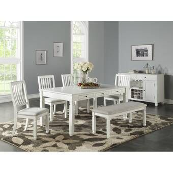 Kenleigh 6 Piece Dining Set Dining Room Sets Furniture Wood Dining Table