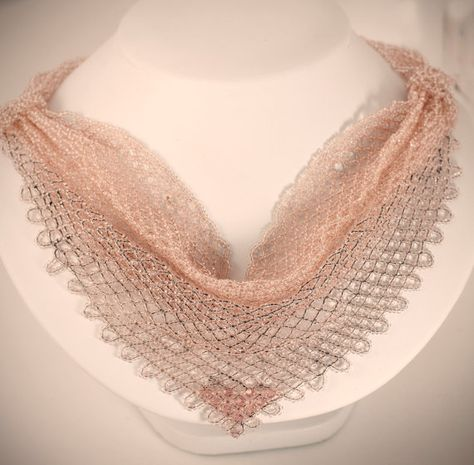 Items similar to Pink Beaded necklace