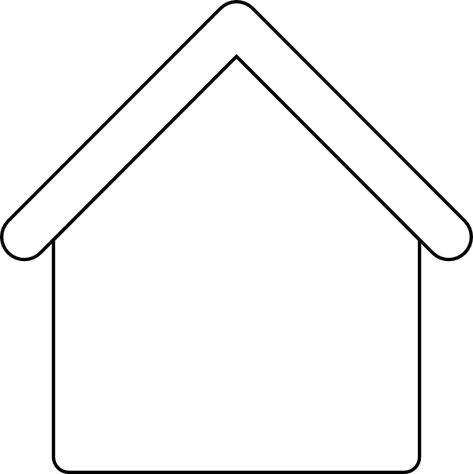 template gingerbread house outline  House Outline Template. Base for Gingerbread House art ...