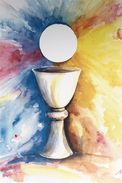 The Holy Eucharist project. Change the colors, make the chalice more…