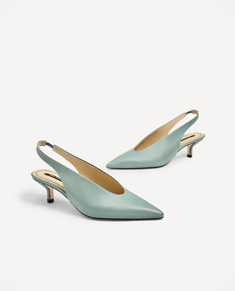 e0bea2e9c53 Image 6 of SLINGBACK LEATHER HIGH HEEL SHOES from Zara