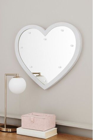 Heart Lit Mirror Lit Mirror Heart Lights Mirror